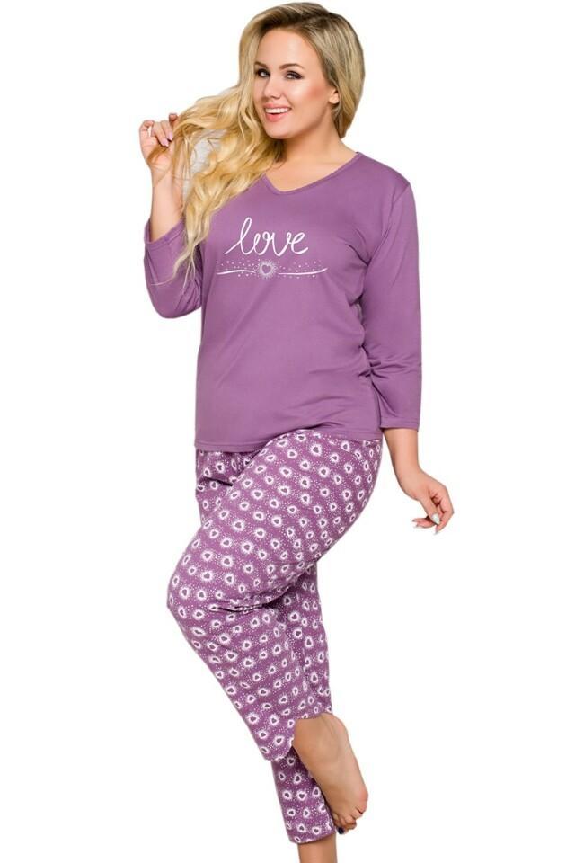 Dámské pyžamo Felicja 1038 violet - XXL - fialová