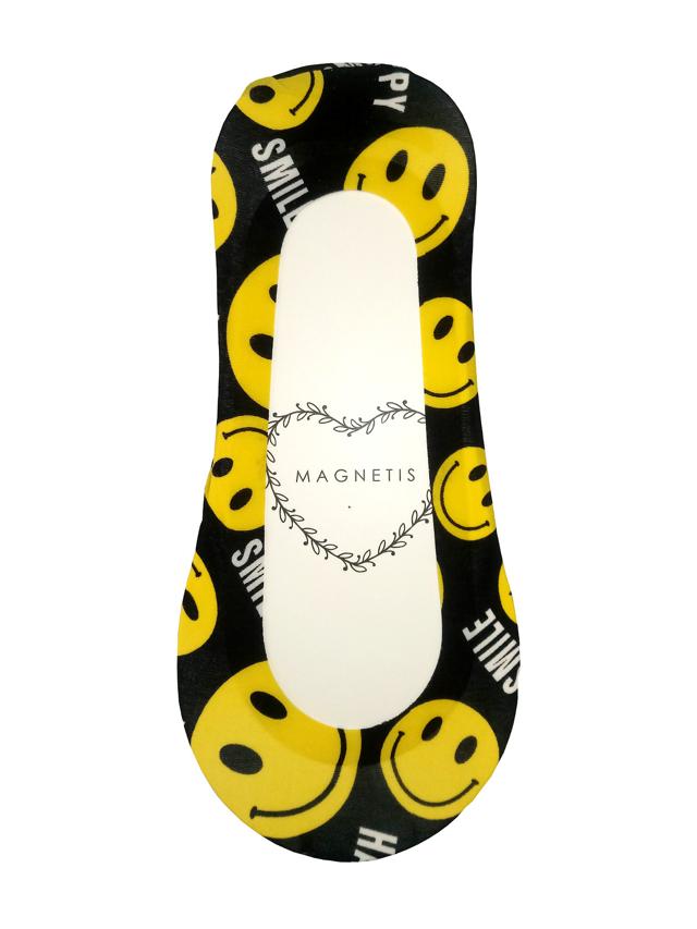Dámské vzorované ponožky baleríny Magnetis Laser Silikon ABS - univerzální - černá