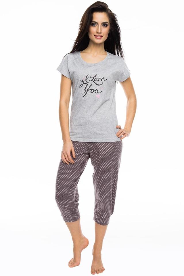 Dámské pyžamo Rossli SAL-PY 1057 - XL - šedá-žíhaná