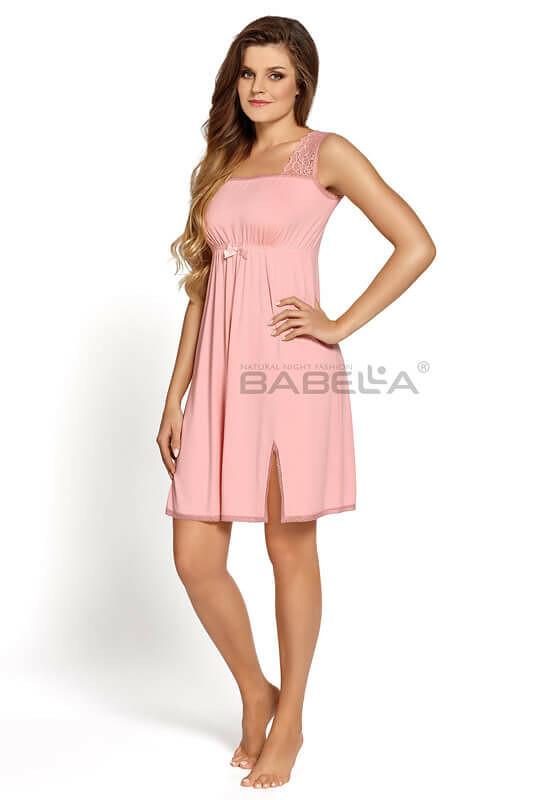 Noční košile Babella Aurora S-2XL - XXL - růžová peony