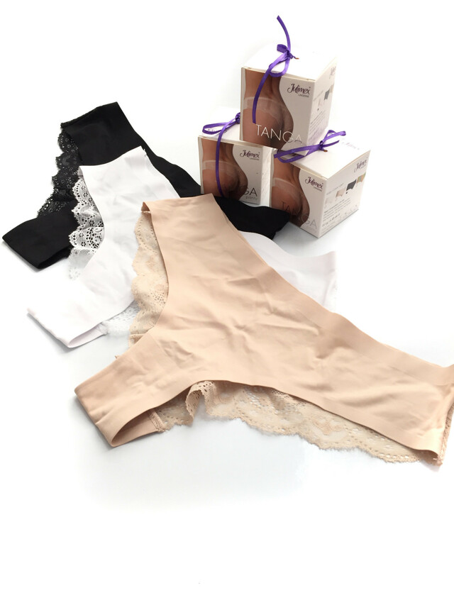 Kalhotky Tanga - Julimex - M - bílá