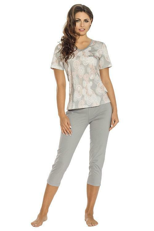 Dámské pyžamo Luna 647-1-3XL - 3XL - šedá