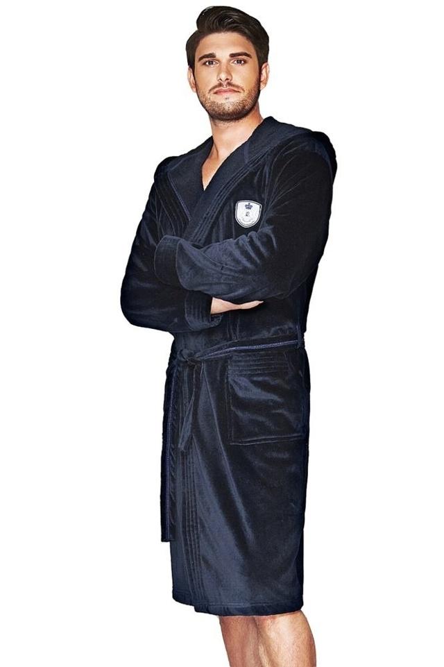 Pánský froté župan Max tmavě modrý - XL