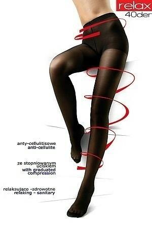 Punčochové kalhoty Mona Relax 40 den - - černá