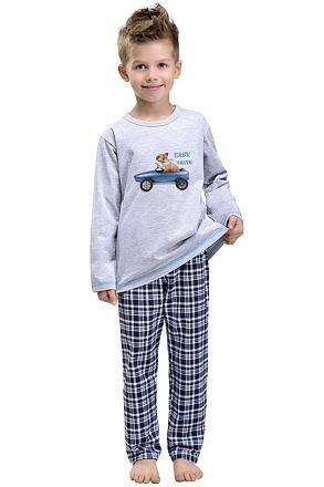 Chlapecké pyžamo Alvin s pejskem šedé