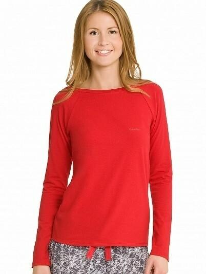 Dámské tričko S1658E - Calvin Klein - L - červená