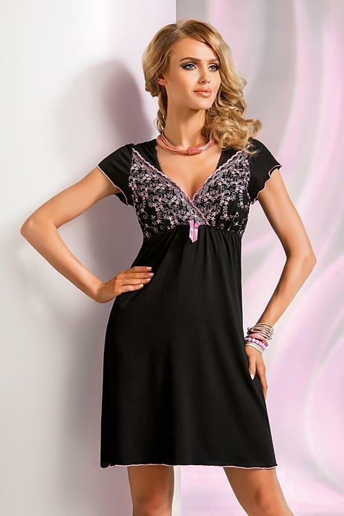 Noční košilka Donna Ines - S - černá