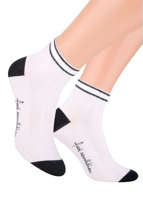 7df63c339a2 Pánské kotníkové ponožky Steven art.054 - 38-40 - bílá