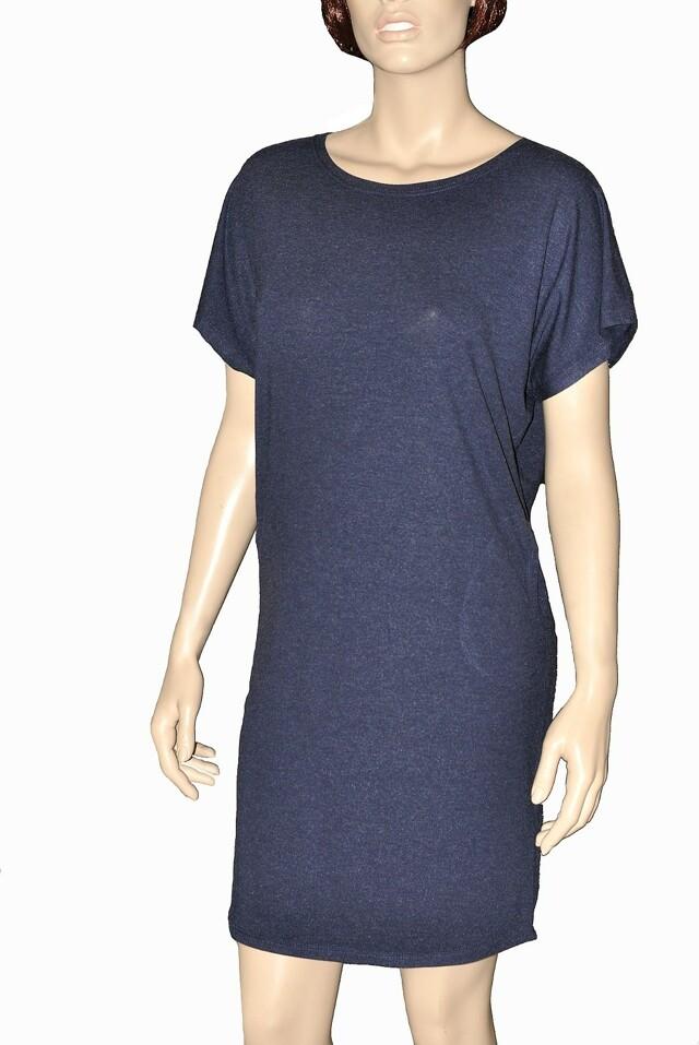 Dámská noční košile De Lafense Paula 523 - L - tmavě modrá