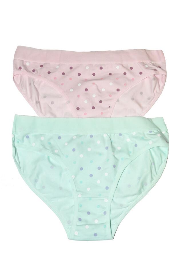 Klasické kalhotky Donella 21305B A'2 - XL - mátová-růžová