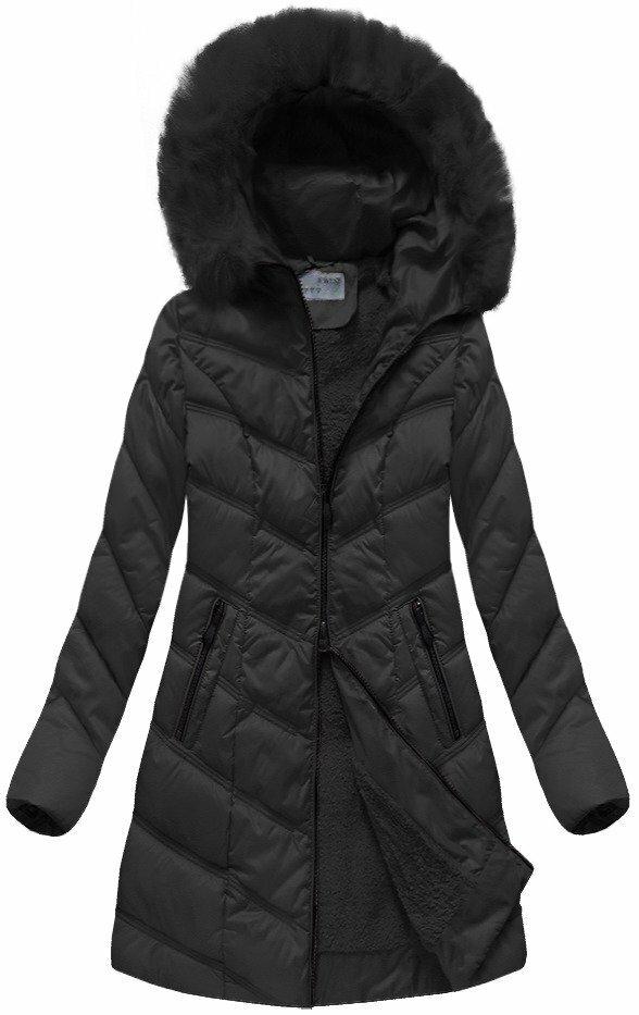 Černá dámská prošívaná bunda (B1061-30) - L (40) - černá aab4d0b58c7