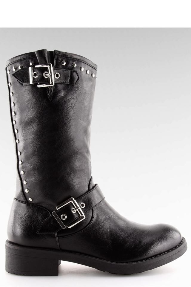 Kozačky na podpatku model 123948 Inello - 37
