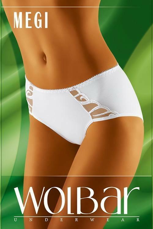 Dámské kalhotky Megi white - XXL - bílá