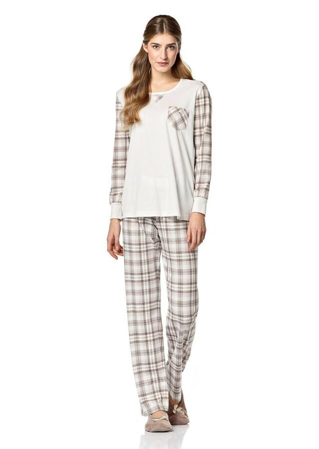 Dámské pyžamo 4711 Vamp - L - krémová