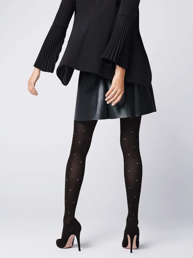Dámské punčochové kalhoty Fiore Baci G 5908 40den - 4-L - black-white/černá-bílá