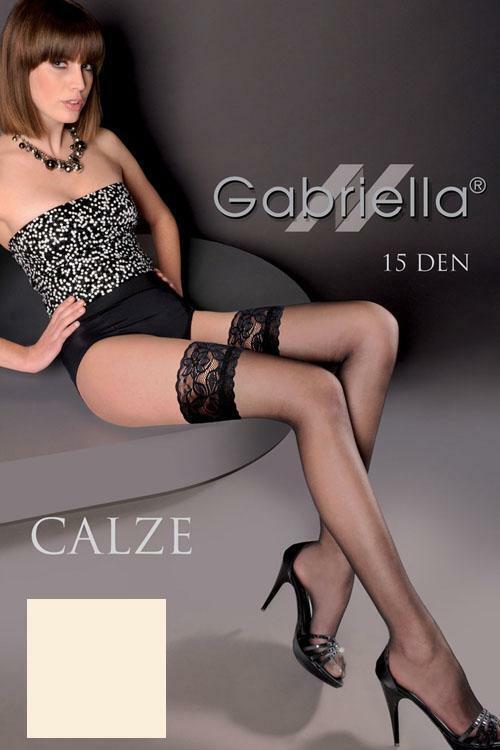 Punčochy Gabriella Calze 15 Den Code 200 - 3/4-M/L - bianco