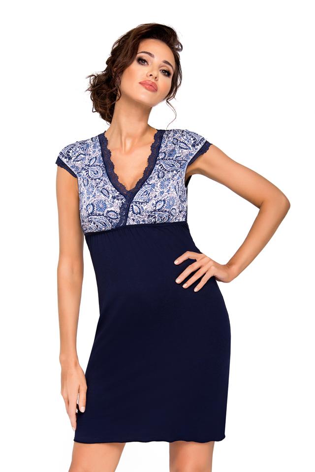 Dámská noční košilka Donna Oktavia - XL - tmavě modrá