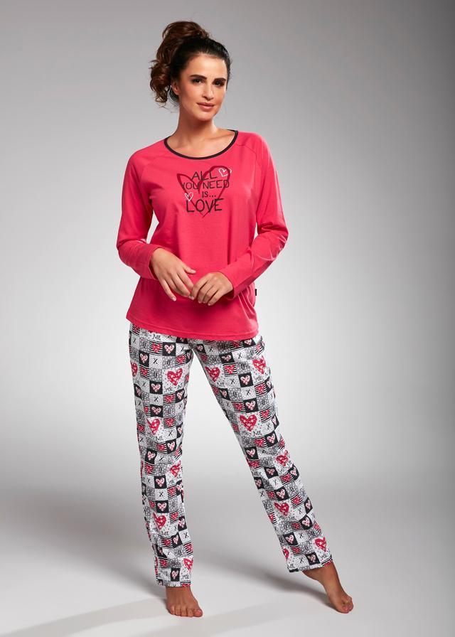 Dámské pyžamo Cornette 145/164 All You Need dl/r S-2XL - XXL - růžová