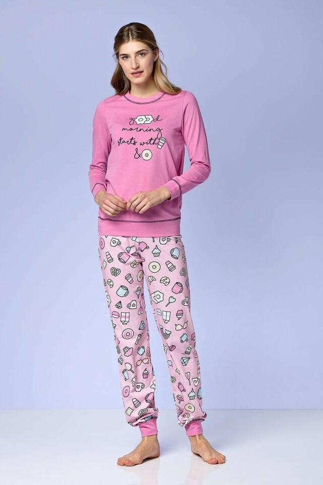 Dámské pyžamo 4972 - Vamp - S - růžová