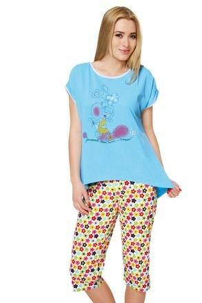 Bavlněné dámské pyžamo Sanremo - L