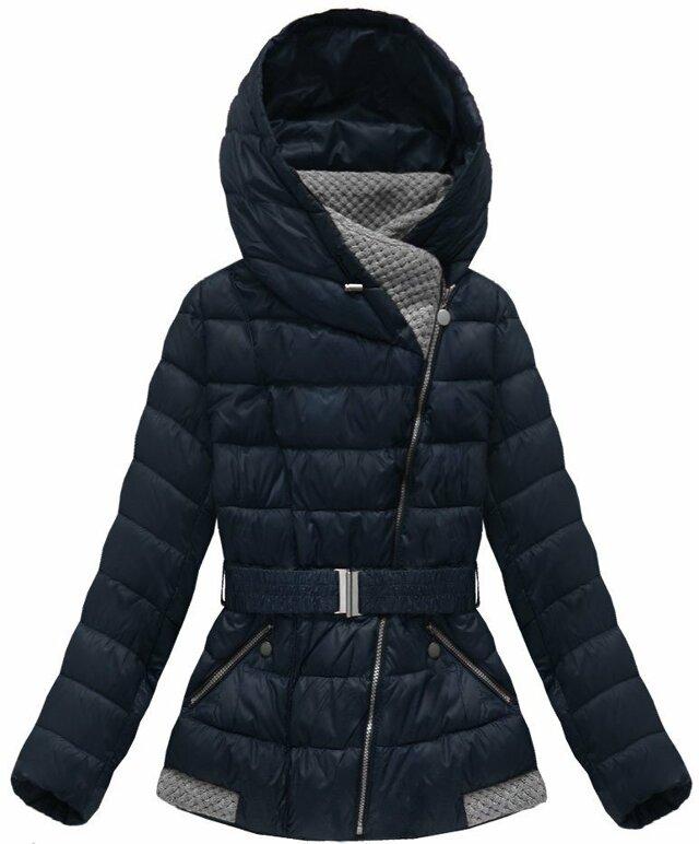 Tmavě modrá dámská zimní bunda (B3563) - XL (42) - tmavěmodrá