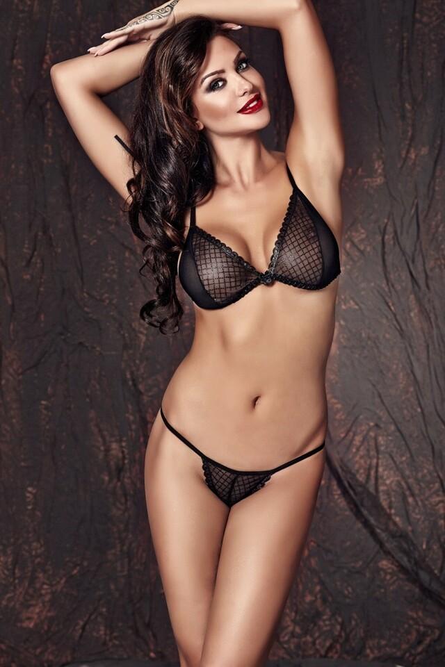 Erotická souprava Clover - M - černá