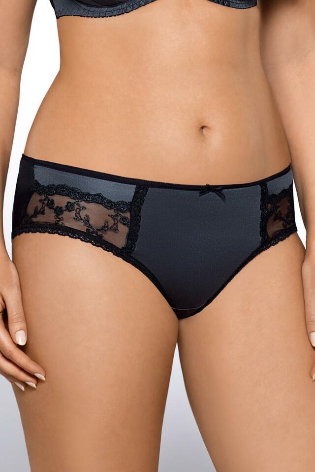 Kalhotky string Ava 1453/S - M - grafitová