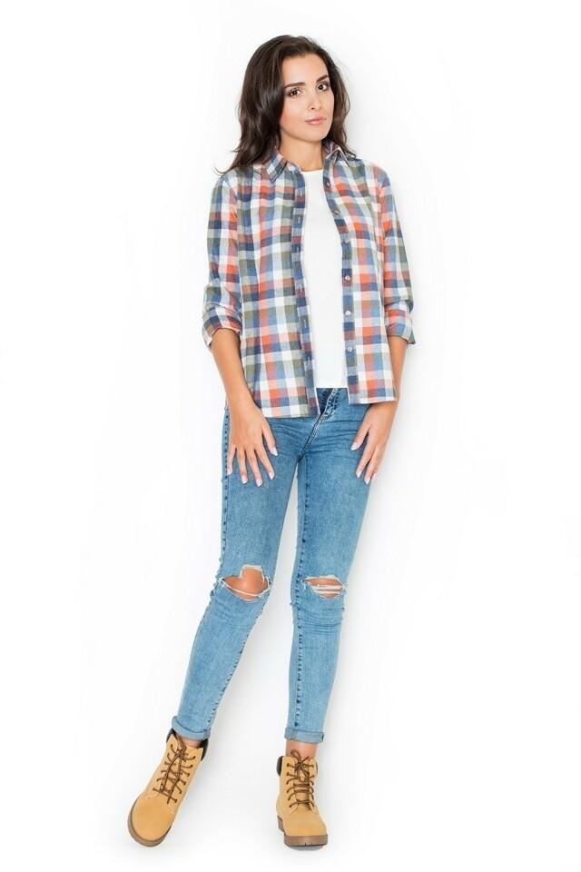 Dámská košile K241 multicolor - L - viz foto