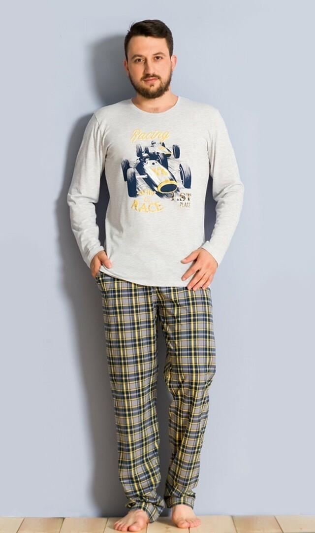 Pánské pyžamo dlouhé Závodní auto