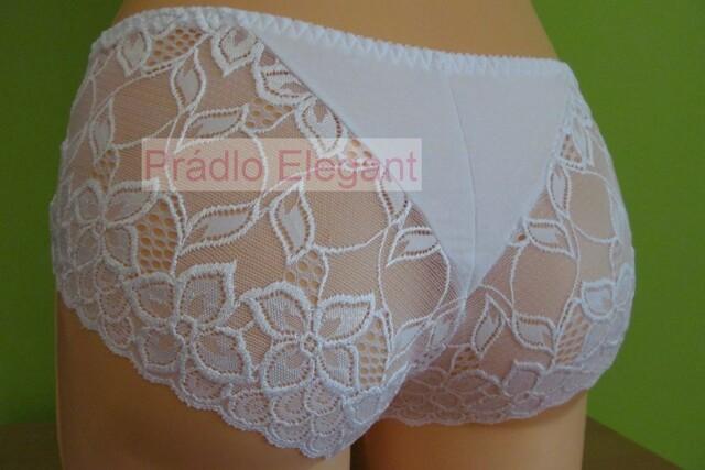 Bavlněné kalhotky 111 bílé - M