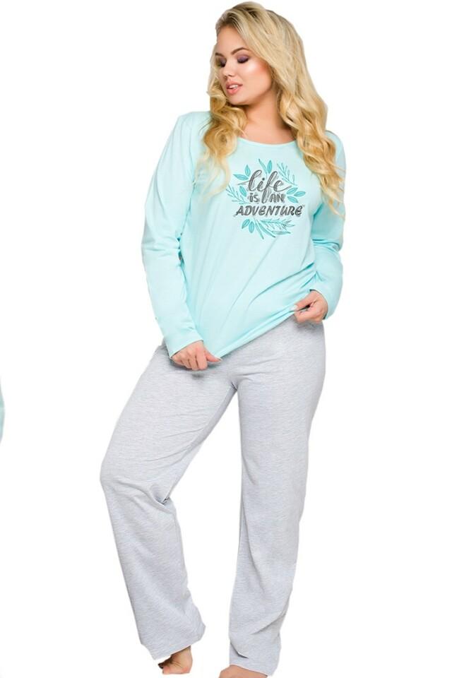 Dámské pyžamo 259 Sylwia blue - XXL - modrá