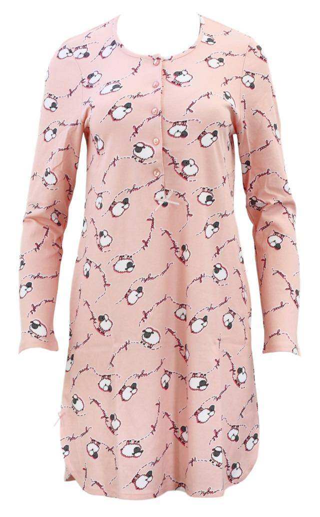 Noční košile 00-10-3074 - Vamp - L - růžová