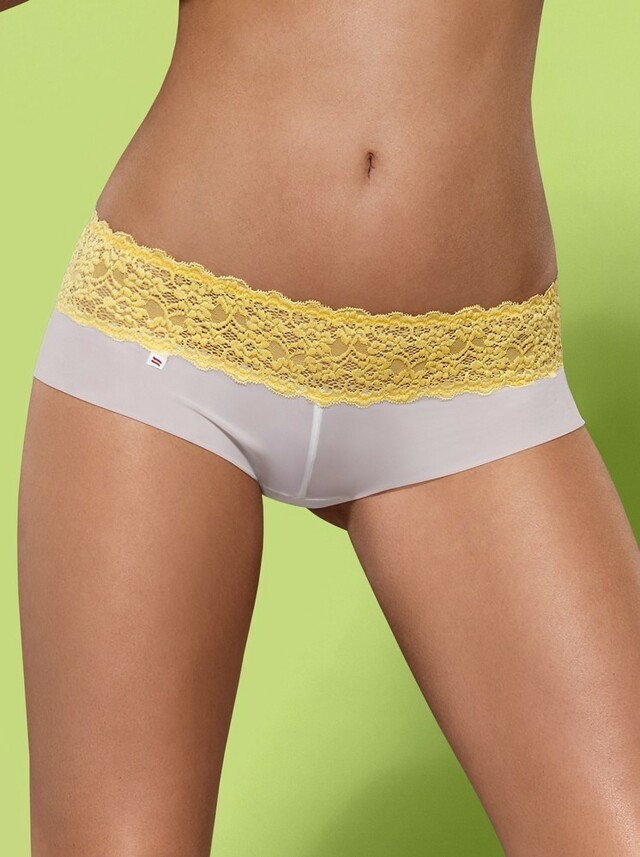 Kalhotky a tanga Lacea shorties a thong duo pack - Obsessive - S/M - žlutá
