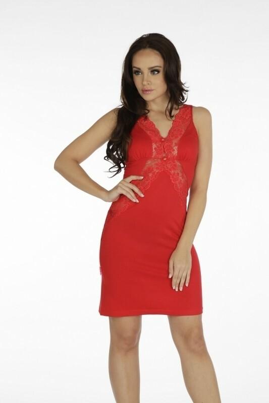 Noční košile Forex Agnes 879 - L - červená