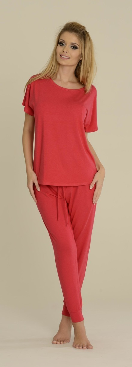 Dámské pyžamo PAULA 524 - DE LAFENSE - malinová - XL