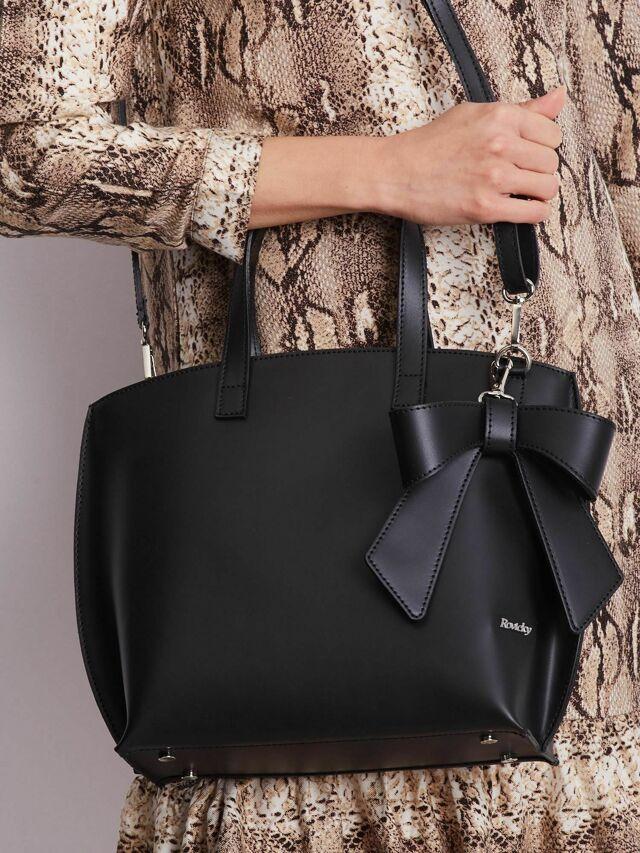 Elegantní černá kabelka - ONE SIZE