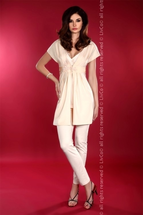 Dámský župan Shanessa dressing gown - S - béžová