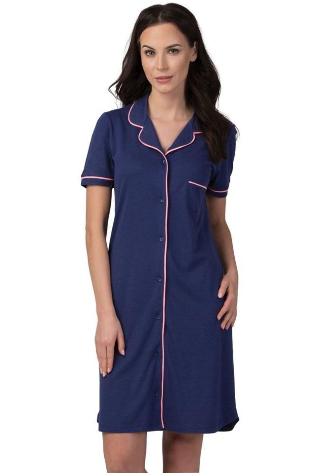 Dámská noční košile Classy tmavě modrá - S