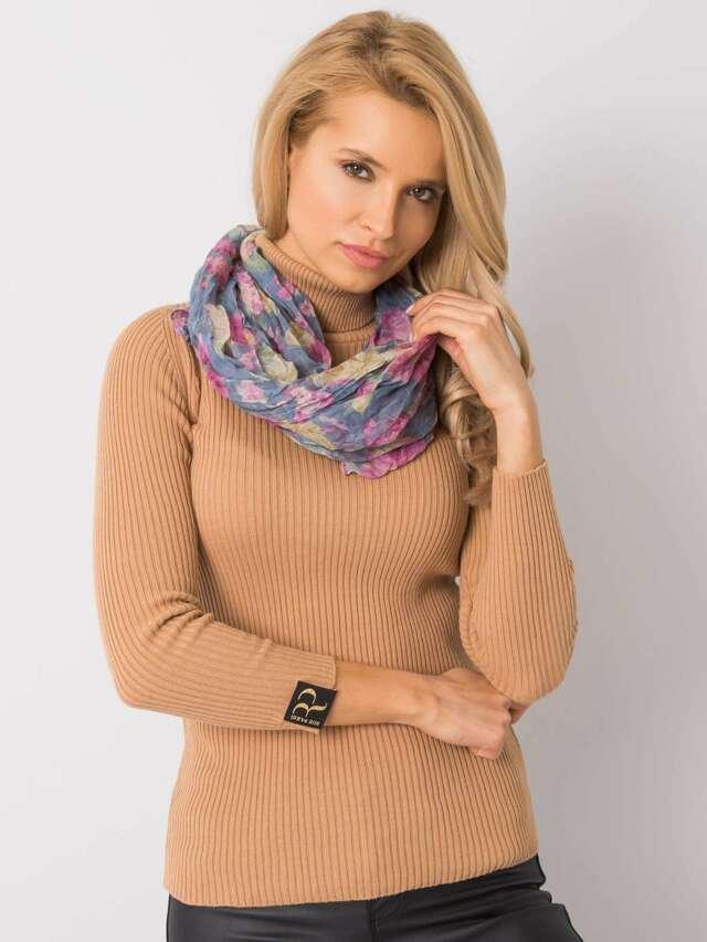 Modrý květinový šátek - ONE SIZE