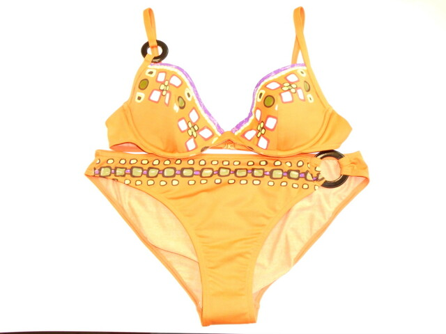 Plavky komplet R90665 - Rasurel - 80B - oranžová