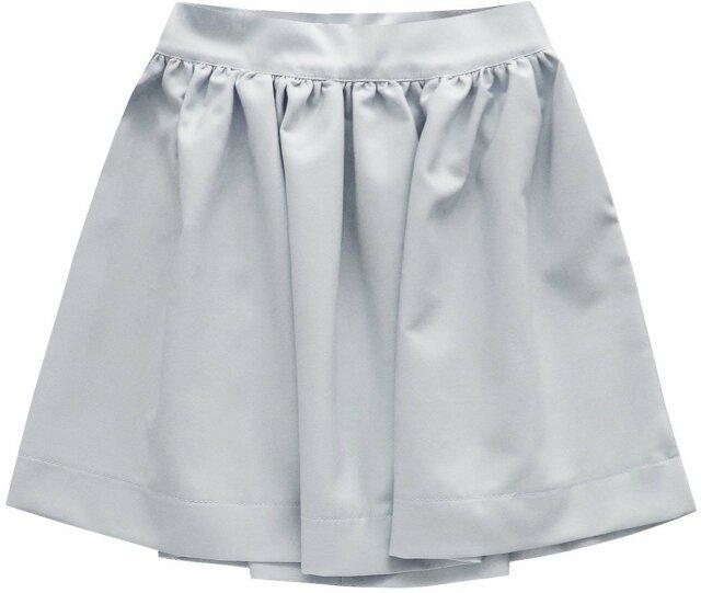 Šedá rozšířená sukně se zipem (88ART) - L (40) - šedá 1300775a5d
