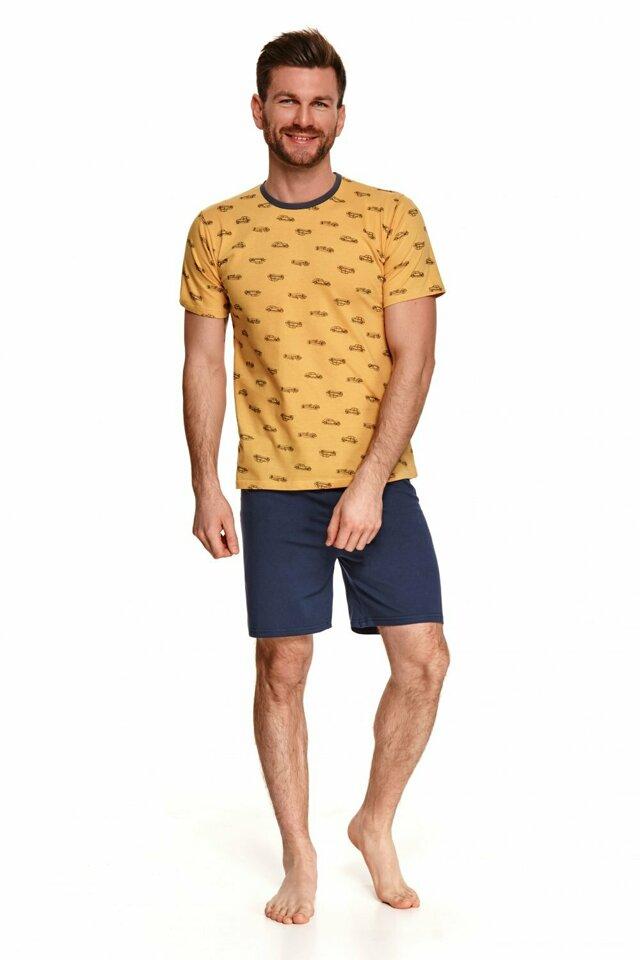 Pánské pyžamo 072 Max - TARO - L - žlutá