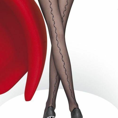 Dámské punčochové kalhoty Delana 5452 - Fiore - 4-L - černá