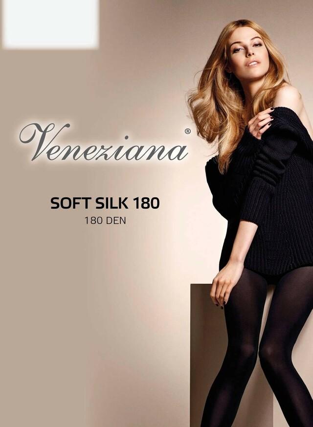 Punčochové kalhoty Veneziana Soft Silk 180 den - 2-S - černá