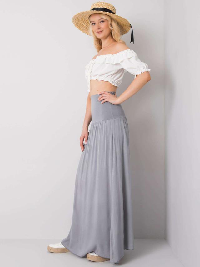 Dámská dlouhá sukně 82160 - OH BELLA - S - bílá