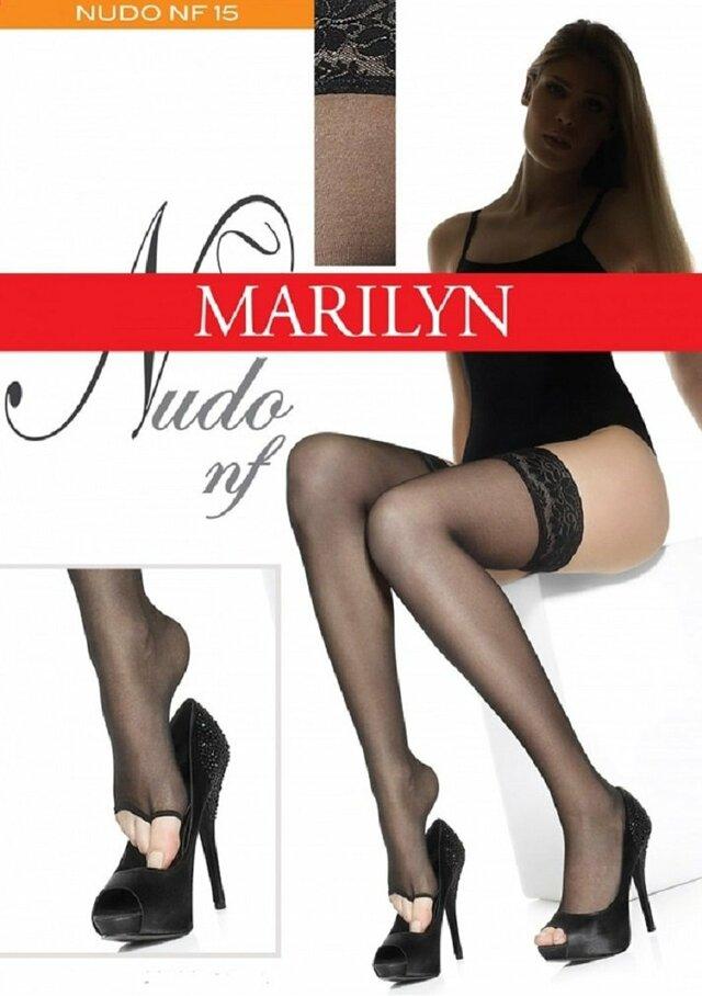 Samodržící punčochy s volnou špičkou Nudo nf Marilyn - Gemini - 3-4 - černá