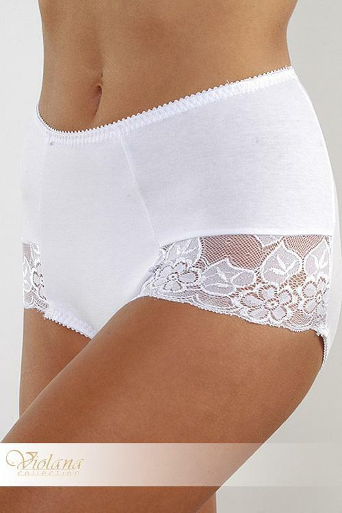Kalhotky Violana Ali - figi - XL - bílá