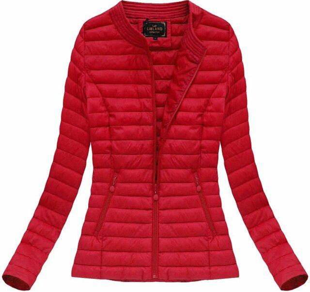Červená dámská prošívaná bunda (7143BIG) - 48 - červená