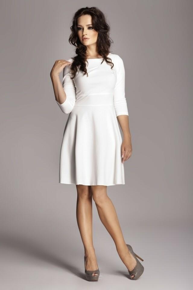 Dámské šaty M081 ecru - S - krémová