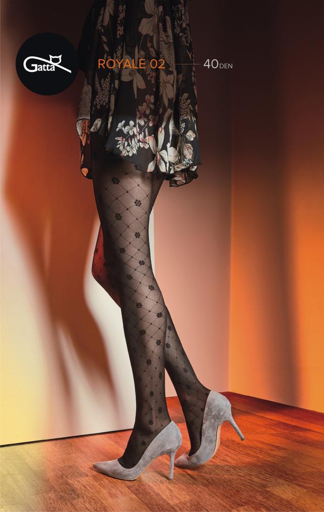 Dámské punčochové kalhoty Gatta Royale vz.02 40 den - 2-S - nero efd8ef53c5